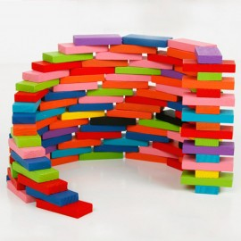 image of [Little B House] Colourful Wooden Dominoes 120 piece set -BT21