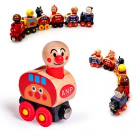 image of [Little B House] Anpanman Magnet Wooden Train Set -BT22