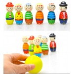 [Little B House] Mini Bowling Game Colorful Pirate Wooden Toy -BT32