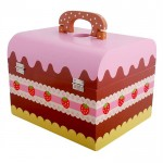[Little B House] Mother Garden Wooden Strawberry Chocolate Combo Toy Birthday Party Cake Set - BT47