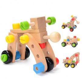 image of [Little B House] Nut Combination Assembled Screws Wooden Puzzle Educational Toy 30pcs - BT50