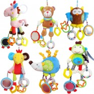 image of [Little B House] JJOVCE Baby Rattle Soft Toy Stroller Bed Hanging Toy -BT39