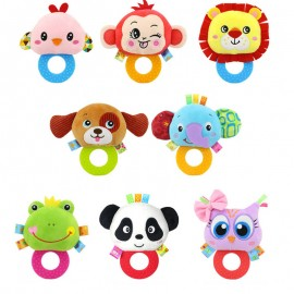 image of [Little B House]Happy Monkey Round Rattles Teether Soft Infant Toy -BT44