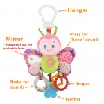 [Little B House] Happy Monkey Baby Car Bed hanging with Teether Rattle Toy - BT46