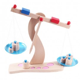 image of [Little B House] Wooden Learning Children Weighing Balance Scales Toy - BT53