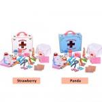 [Little B House] Wooden Small Doctor Children Medical Kit Simulation Medicine Box Toys - BT57
