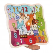 image of [Little B House] MiDeer Early Learning Cognitive Circus Colorful Wooden Puzzle Clock - BT58