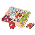 [Little B House] MiDeer Early Learning Cognitive Circus Colorful Wooden Puzzle Clock - BT58
