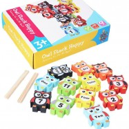 image of [Little B House] Owl Wooden Blocks Tower Balance Domino Jenga Toys - BT59