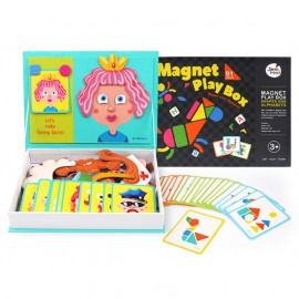 image of [Little B House] Joan Miro Magnet Play Box Crazy Faces/Magnet Play Box Shapes & Alphbets - BT67