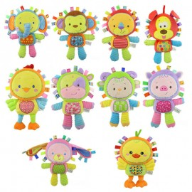 image of [Little B House] Happy Monkey Baby Plush Toy Rattle Early Development Toy - BT71