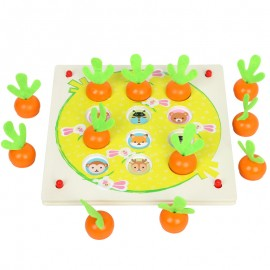 image of [Little B House] Wooden Radish Memory Chess Parent-Child Interaction Table Games - BT73