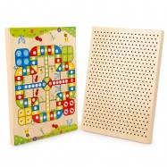 image of [Little B House] Flying Chess Combination of Mushroom Nail Desktop Children Brain Teaser Games - BT74