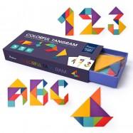 image of [Little B House] Mideer Wooden Colorful Tangram IQ Game Brain Teaser Intelligent Toys - BT77