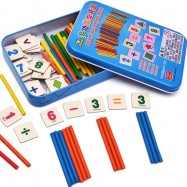 image of [Little B House] Wooden Counting Bar Multifunction Learning Box Early Learning Toy - BT79
