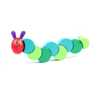image of [Little B House] Wooden Flexible Block Twisting Very Hungry Caterpillar Worm Toy - BT83