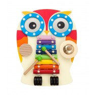 image of [Little B House] Montessori Wooden Owl Design Xylophone Music Musical Educational Toys  - BT86
