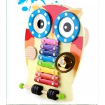 [Little B House] Montessori Wooden Owl Design Xylophone Music Musical Educational Toys  - BT86
