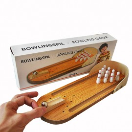 image of [Little B House] Wooden Mini finger Bowling Board Games Parent-Child Interaction Toy - BT89
