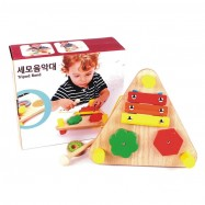 image of [Little B House] Wooden Multifunctional Triangular Music Table Baby Educational Music Toys - BT90