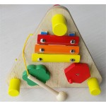 [Little B House] Wooden Multifunctional Triangular Music Table Baby Educational Music Toys - BT90