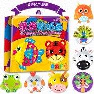 image of [Little B House] Baby Creative DIY Paste Art Material Handmade Paper Plate Painted Toys - BT95