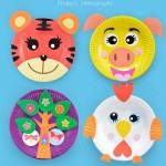 [Little B House] Baby Creative DIY Paste Art Material Handmade Paper Plate Painted Toys - BT95