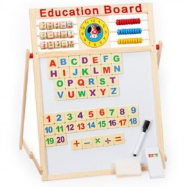 image of [Little B House] Wooden Durable Double-sided Whiteboard Magnetism Drawing Board Toys - BT106