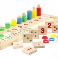 image of [Little B House] Wooden Digital Pairing Mathematics Montessori Teaching Puzzle Toys - BT109