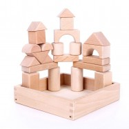 image of [Little B House] 22pcs Wooden Building Blocks Puzzle for Kids Educational Toys - BT110