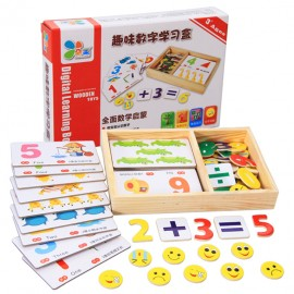 image of [Little B House] Wooden Learning Knowledge Arithmetic Digital Card Box Toys - BT111