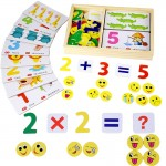 [Little B House] Wooden Learning Knowledge Arithmetic Digital Card Box Toys - BT111