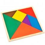 [Little B House] Wooden Triangle Jigsaw Puzzle Mental Developmental Toy for Kids - BT114