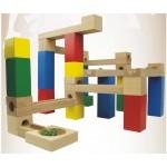 [Little B House] DIY 33pcs Marble Ball Wooden Building Block Game Educational Toys - BT116
