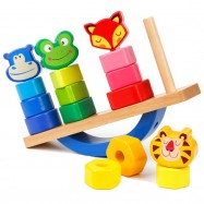 image of [Little B House] Educational Animal On The Seesaw Paired Stack Games for Kids - BT125