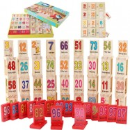 image of [Little B House] 110 Piece Numbers Digital Domino Building Blocks Educational Toys -BT131