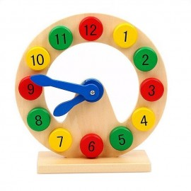 image of [Little B House] Wooden Digital Geometry Clock Early Childhood Intelligence Toys - BT141
