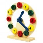 [Little B House] Wooden Digital Geometry Clock Early Childhood Intelligence Toys - BT141