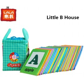 image of [Little B House] Cloth Alphabet Learning Card 0-3 years old -BKM01