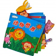 image of [Little B House] Cloth Book - Animals World 0-3 years old -BKM03