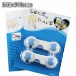 [Little B House] Blue Smiley Child Safety Door Lock 2 Piece Set -BKM10