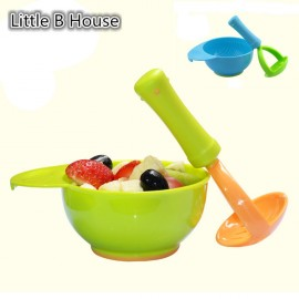 image of [Little B House] Baby Food Fruits Supplement Grinding Tool & Bowl -BKM13