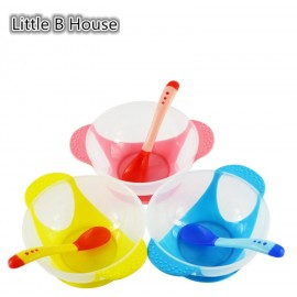 image of [Little B House] Baby Food Supplement Temperature Sensor Sucker Bowl -BKM14
