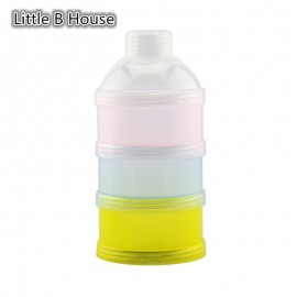 image of [Little B House] Portable Baby Feeding Milk Powder & Food Bottle Container 3 Cells Grid Box -BKM20