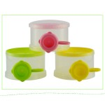 [Little B House] Portable Colorful 3 Layers Food Dispenser Travel Container Bottle Storage Bowl -BKM23