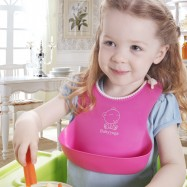image of [Little B House] Silicone Waterproof Soft Baby Bibs -BKM24