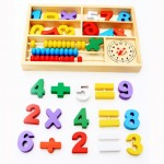 [Little B House] Wooden Numbers and Math Signs with Abacus in Box -BKM31
