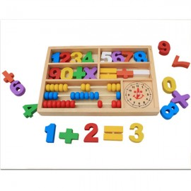 image of [Little B House] Wooden Numbers and Math Signs with Abacus in Box -BKM31