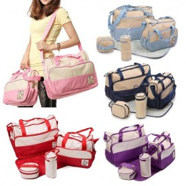 image of [Little B House] High Quality 5 in 1 Multifunctional Shoulder Diaper Baby Tote Bag Mummy Mother Bag - BAG04
