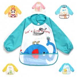 image of [Little B House] Waterproof anti-dressed long sleeve baby bibs -81103